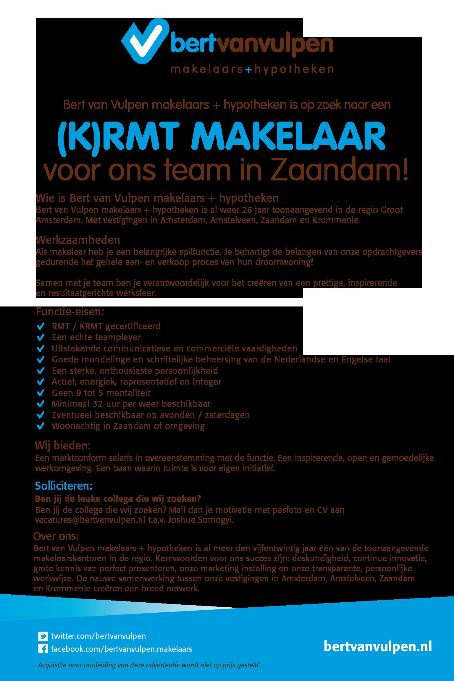 (K)RMT Makelaar Zaandam
